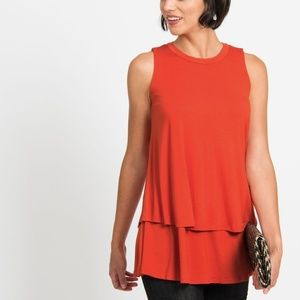 Sleeveless Tiered Tunic Nectorine By Agnes & Dora